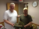 Rob Loper - 1st place winner of the 2013 Tussle receives his trophy!