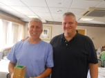 Jim Manfredi, winner of the Mo'Fo Division receives his prize from Chuck!