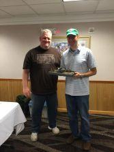 The champ gets his trophy! Congrats Rob Arrieta!